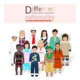 Crianças do vetor diferente das nacionalidades Imagens de Stock Royalty Free