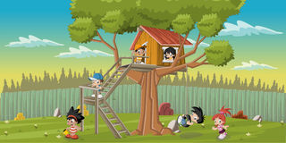 Crianças dos desenhos animados Fotografia de Stock