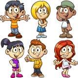 Crianças dos desenhos animados ilustração stock