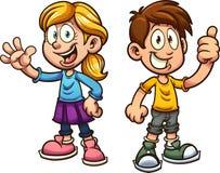 Crianças dos desenhos animados Foto de Stock Royalty Free