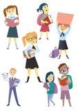 Crianças dos desenhos animados ajustadas Foto de Stock