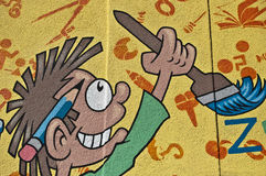 crianças dos grafittis Fotografia de Stock