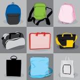 Crianças e adultos do saco de coleção Fotos de Stock