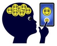 Crianças e apego do smartphone Imagem de Stock