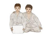 Crianças e artes marciais Fotografia de Stock