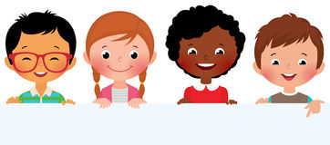 Crianças e bandeira Imagens de Stock