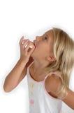 Crianças e bolinhos de açúcar fotografia de stock