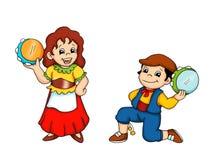 Crianças e a dança siciliano Foto de Stock