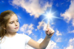 Crianças e futuro Imagem de Stock Royalty Free
