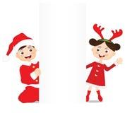 Crianças e Natal Foto de Stock Royalty Free