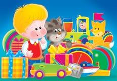 Crianças e presentes 01 Imagens de Stock Royalty Free