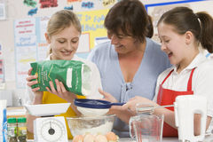 Crianças e professor na classe Foto de Stock Royalty Free