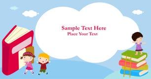 Crianças e quadro Imagens de Stock Royalty Free