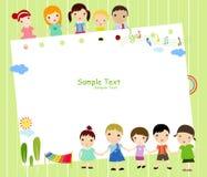 Crianças e quadro ilustração royalty free