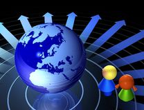 Crianças e rede global Imagens de Stock Royalty Free