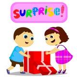 Crianças e surpresa Fotografia de Stock Royalty Free
