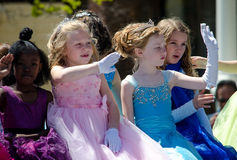Crianças e tiaras Fotografia de Stock