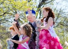 Crianças e tiaras e coroas Foto de Stock Royalty Free