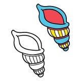 Crianças educacionais simples que colorem a página Imagem de Stock Royalty Free