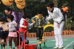 Crianças em Dia das Bruxas foto de stock royalty free