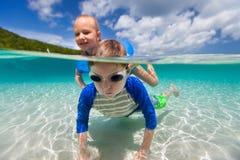 Crianças em férias Imagens de Stock Royalty Free