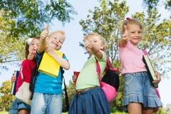 Crianças em idade pré-escolar felizes imagem de stock royalty free