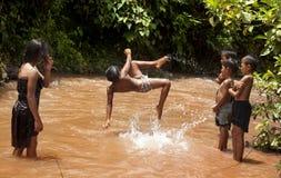Crianças em Laos Foto de Stock Royalty Free