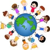 Crianças em torno do mundo Fotografia de Stock Royalty Free
