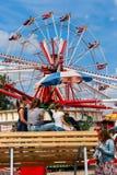 Crianças em um carnaval antiquado foto de stock royalty free