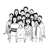 Crianças em um coro ilustração stock