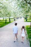 Crianças em um parque da mola Imagens de Stock Royalty Free