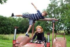 Crianças engraçadas Foto de Stock