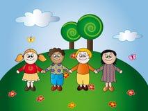 Crianças felizes Imagens de Stock Royalty Free