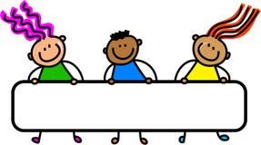 Crianças felizes da bandeira Fotos de Stock