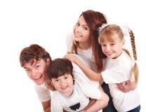 Crianças felizes da educação da família. imagens de stock