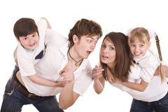 Crianças felizes da educação da família. fotos de stock
