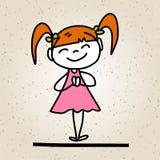 Crianças felizes do sumário dos desenhos animados do desenho da mão Imagens de Stock Royalty Free