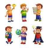 Crianças felizes dos desenhos animados ajustadas Fotografia de Stock Royalty Free