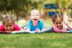 Crianças fora Imagens de Stock Royalty Free