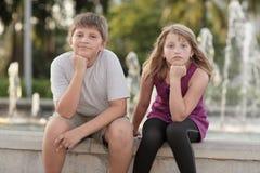Crianças furadas Fotos de Stock
