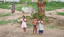 Crianças indianas na rua Foto de Stock Royalty Free