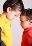 Crianças irritadas Foto de Stock Royalty Free