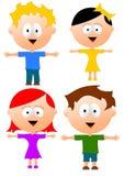 Crianças isoladas Imagens de Stock