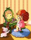 Crianças, makeups e jóias macios Fotografia de Stock Royalty Free