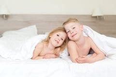 Crianças a manhã Foto de Stock Royalty Free