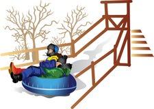 Crianças a montar na tubulação Imagens de Stock