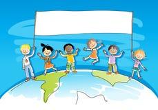 Crianças multiculturais Fotos de Stock Royalty Free