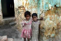 Crianças na área da região carbonífera fotos de stock royalty free