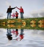 Crianças na casa da família. Imagem de Stock Royalty Free