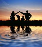 Crianças na casa de pais no céu Fotos de Stock